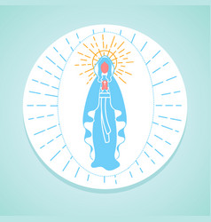 immaculate conception of the virgin mary vector image vector image