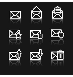 Message icons vector image vector image