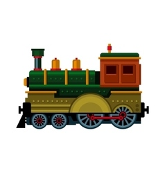 Retro Train Steam Locomotive Icon vector image