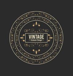 vintage exlusive design luxury golden floral vector image