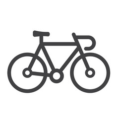 bicycle line icon transport and vehicle bike vector image