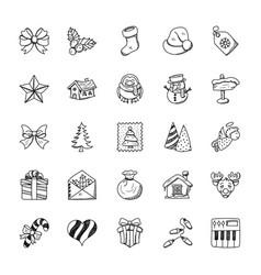 Christmas doodles set vector