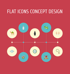 flat icons minaret artillery decorative and vector image vector image