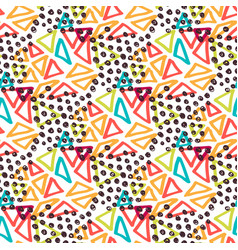 Hipster seamless pattern fashion background with vector