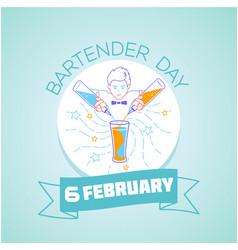 international bartenders day vector image vector image