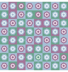 Pattern seamless gear vector image