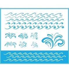 Set of wave symbols for design vector image vector image