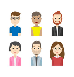 simple people avatar business character vector image vector image
