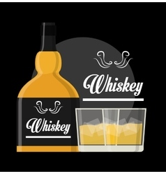 Whiskey concept design vector image vector image