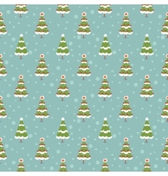 Winter seamless background vector