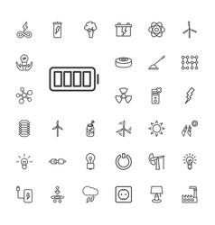 33 energy icons vector
