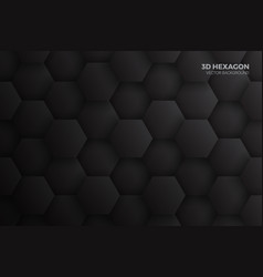 3d hexagon blocks structure dark gray abstract vector