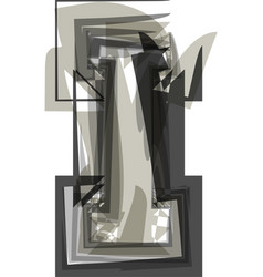 abstract letter i vector image