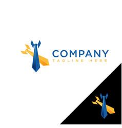 abstract necktie in colored company logo design vector image