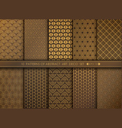 abstract old modern style antique art deco vector image