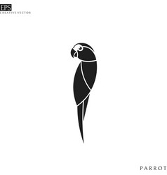 abstract parrot vector image