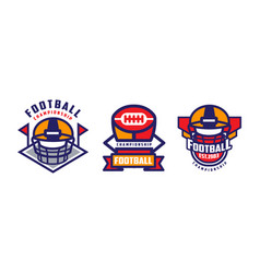 american football championship labels set sport vector image