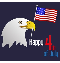 american independence day celebration with eagle vector image