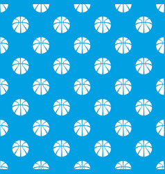 basketball pattern seamless blue vector image