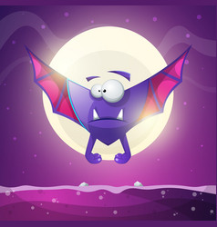 Bat vampire - cartoon horror characters vector