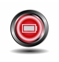Battery icon button vector