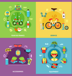 bike concept icons set vector image