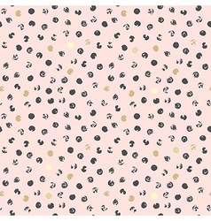 black and golden spots abstract pink background vector image