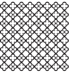 black and white quatrefoil ornamental pattern vector image