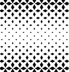 Black and white rhombus pattern background vector image