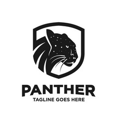 black panther logo design template vector image