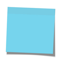 blue paper sticky note glued to surface vector image