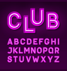 Broadway night club vintage style neon font vector