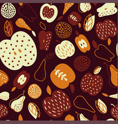 Brown apples vector