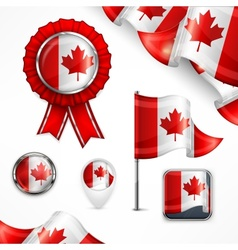 Canadian national symbols vector image