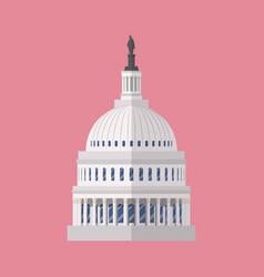 Capitol building symbol vector