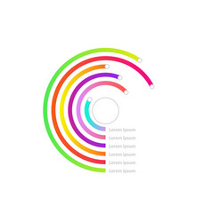 circle line diagram chart icon vector image