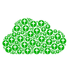 cloud mosaic of medical pharmacy icons vector image