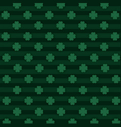 Clovers plants with lines textures background vector