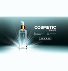 cosmetic glass branding background spa vector image