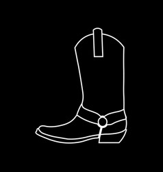 cowboy boots graphic image of shoes for vector image