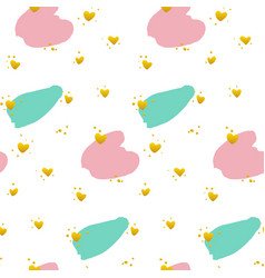 cute brush paint grunge seamless pattern vector image