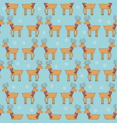cute decorative reindeer christmas animal seamless vector image