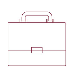 Dark red line contour of executive briefcase vector