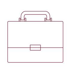 Dark red line contour of executive briefcase vector