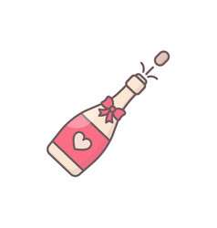Decorated champagne bottle vector