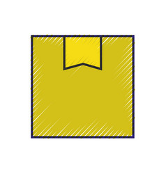 delivery cardboard box cargo service online vector image