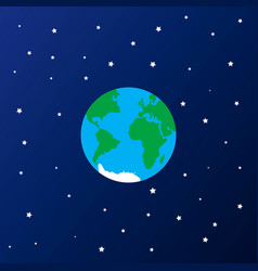 earth in star space icon vector image
