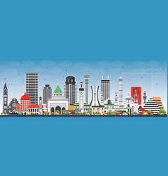 famous landmarks in africa vector image