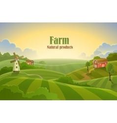 Farm flat landscape vector