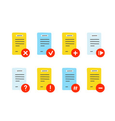 File document icon set hand drawn vector